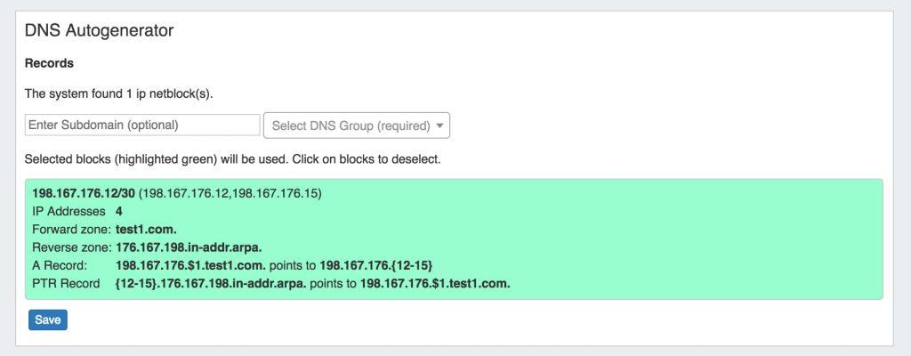 DNS Autogenerator
