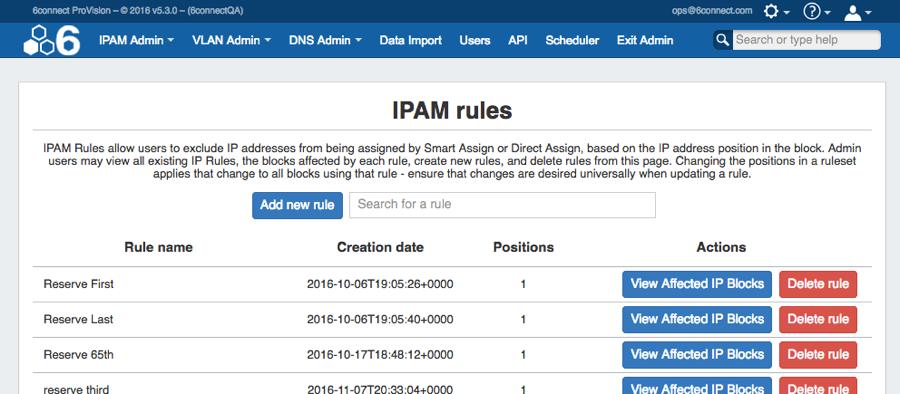 IPAM Rules