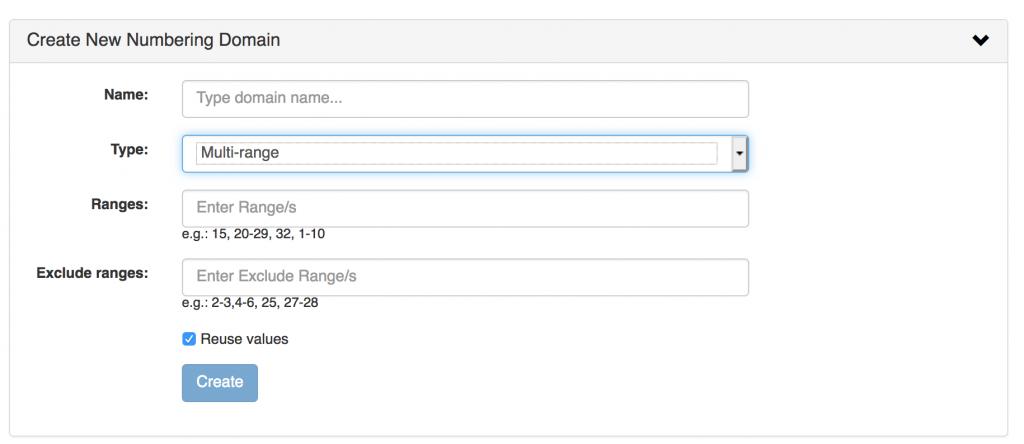 Screenshot: multi-range