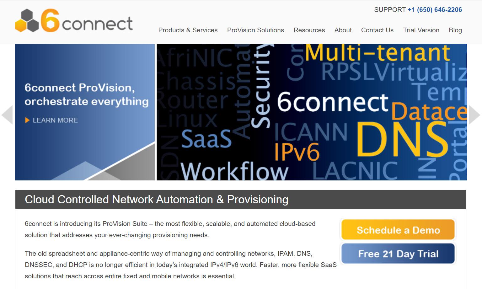 6connect website screenshot from 2013