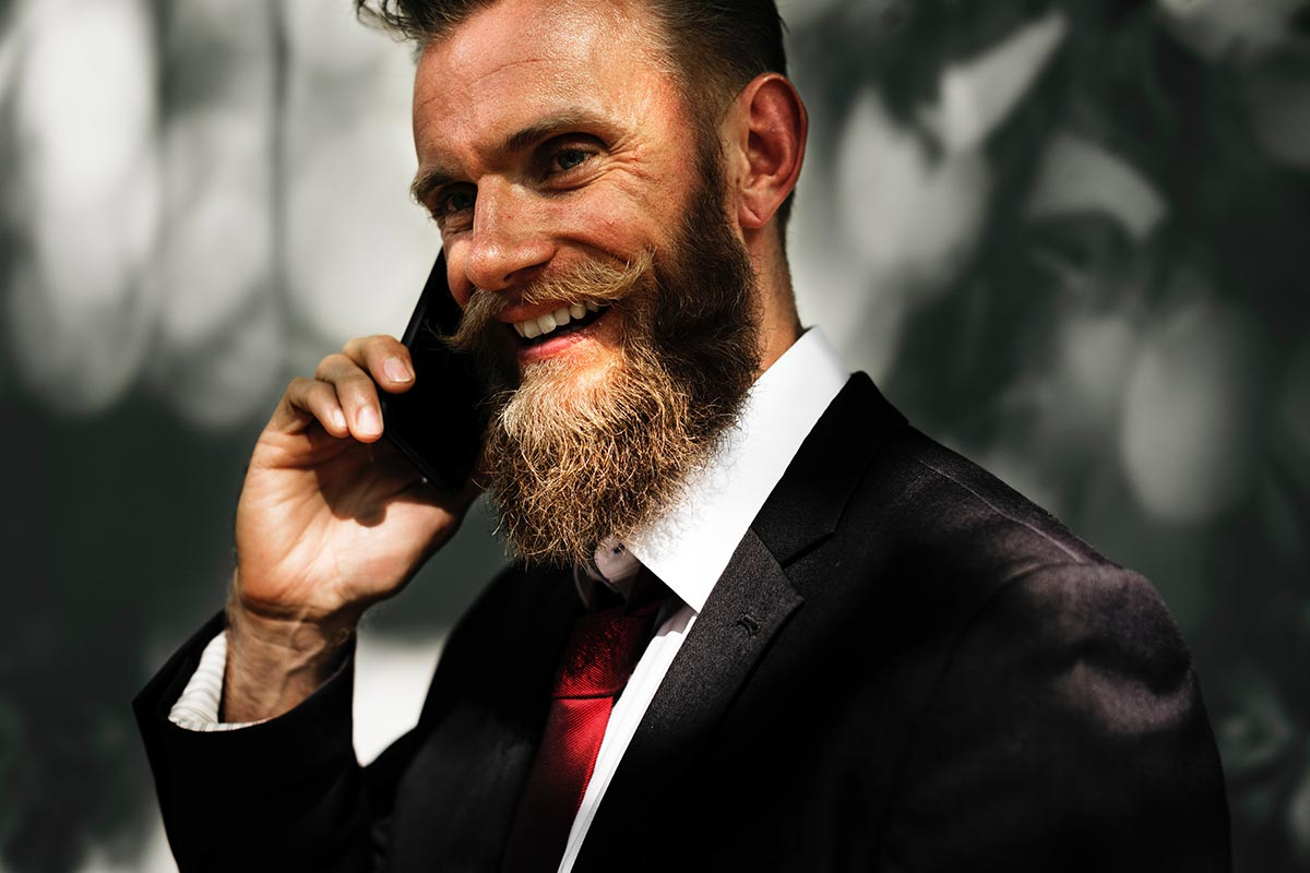 Professional man with beard